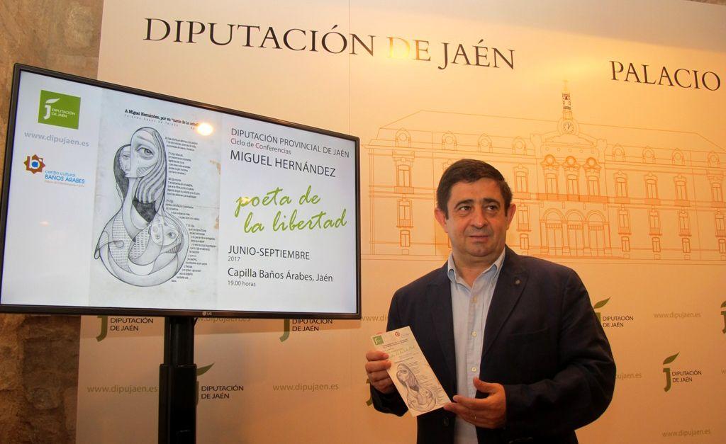 Diputación organiza un ciclo de conferencias que girará en torno a Miguel Hernández como poeta de la libertad