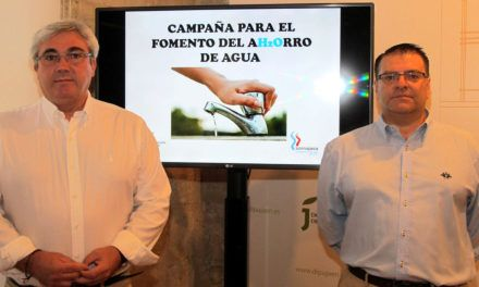 """Diputación y Somajasa """"llaman"""" al ahorro de agua con una campaña de concienciación que llegará a 300.000 jiennenses"""