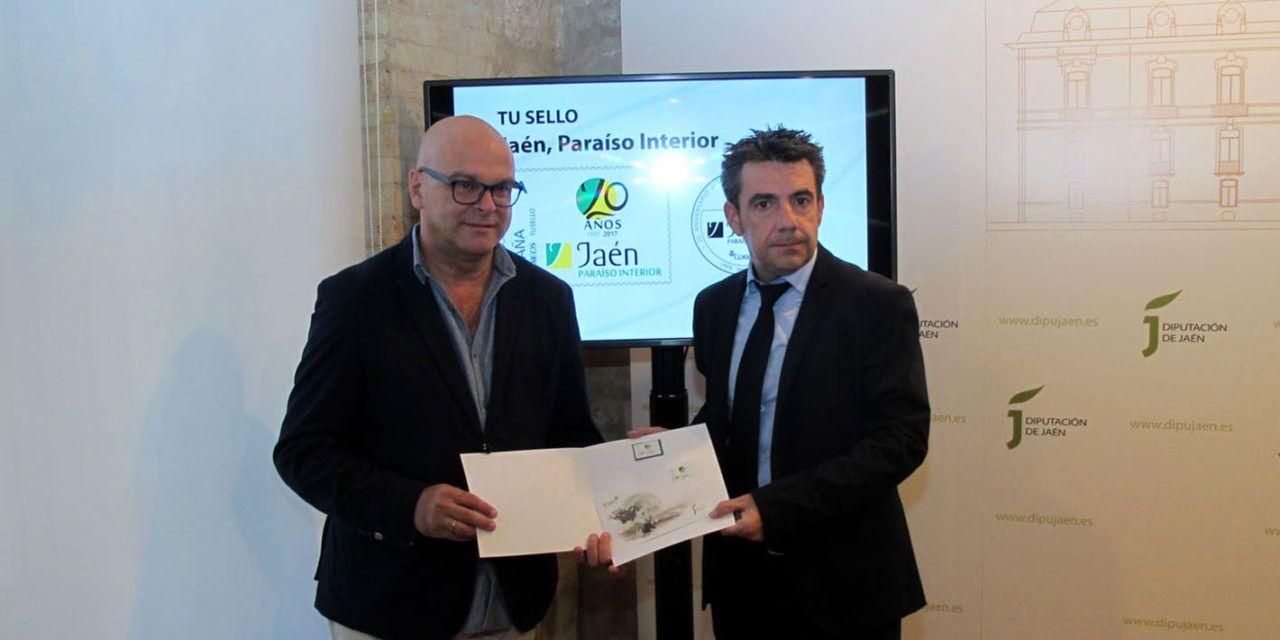 """Diputación y Correos editan 400 sellos conmemorativos del 20 aniversario de """"Jaén, paraíso interior"""""""