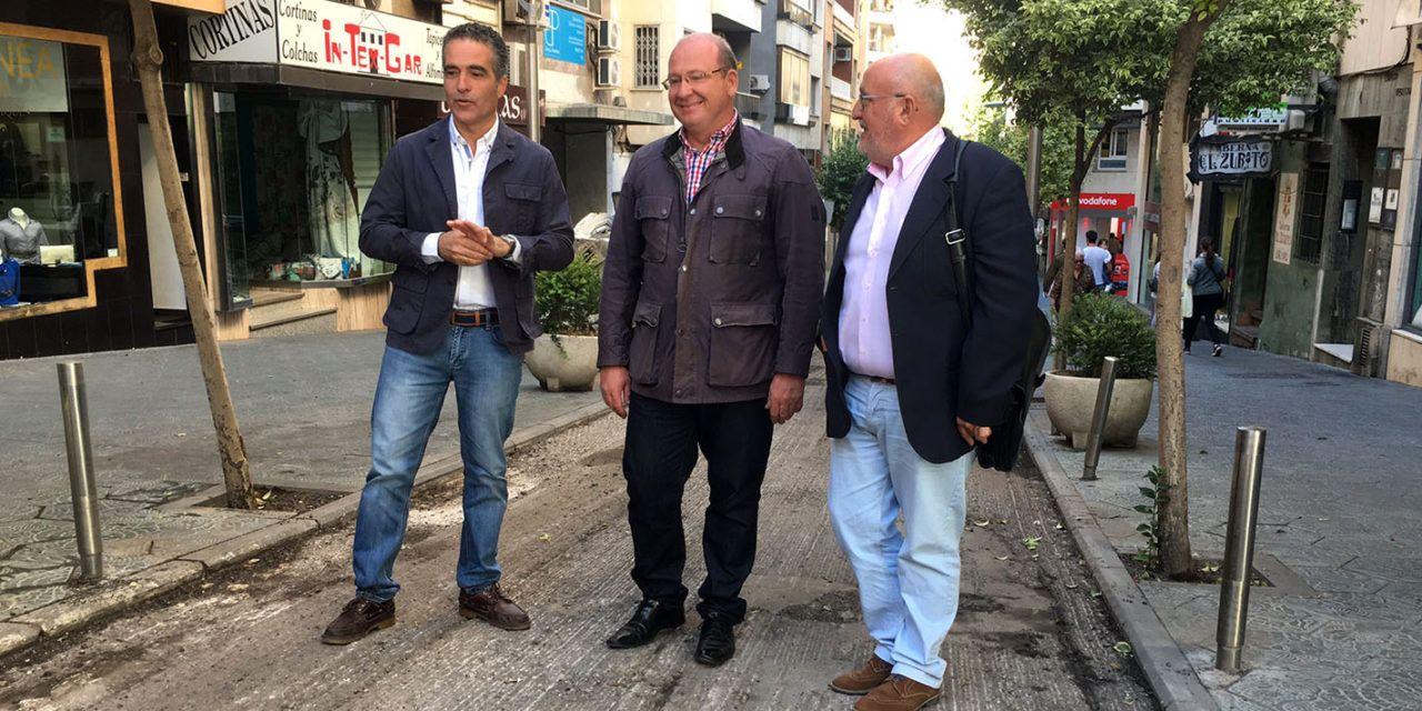 El alcalde visita el asfaltado de la calle Rastro de la capital