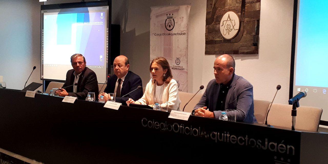Cobo inaugura una jornada del Colegio de Arquitectos sobre la colaboración entre estos profesionales y la Administración