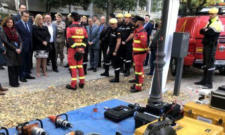 La Unidad Militar de Emergencias recibe un homenaje  en Jaén por su trabajo en el servicio al ciudadano
