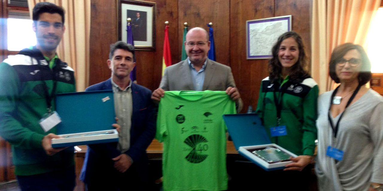 Reconocimiento a los atletas jiennenses Carlos Rojas y Natalia Romero