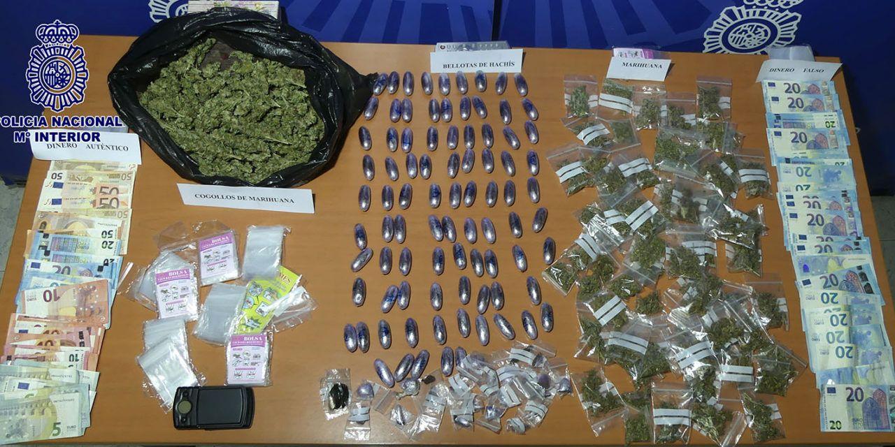 La Policía Nacional detiene a una pareja por tráfico ilícito de sustancias estupefacientes, desmantelando un punto negro de venta de drogas