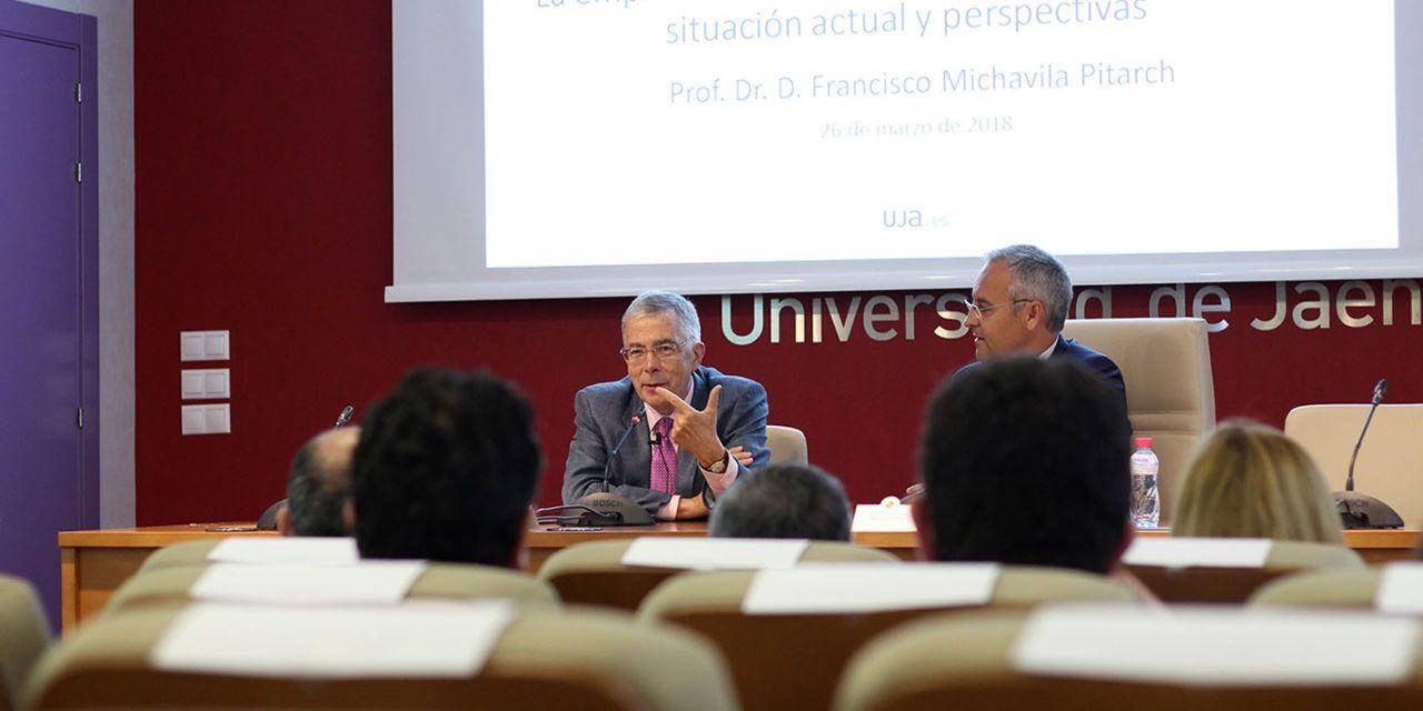 El director de la Cátedra Unesco de Gestión y Política Universitaria Francisco Michavila diserta sobre la empleabilidad de los estudiantes universitarios