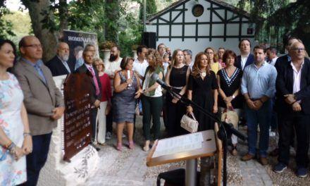 Homenajeada la figura de María la de los Baños con la inauguración de un monolito en los Jardines de Jabalcuz