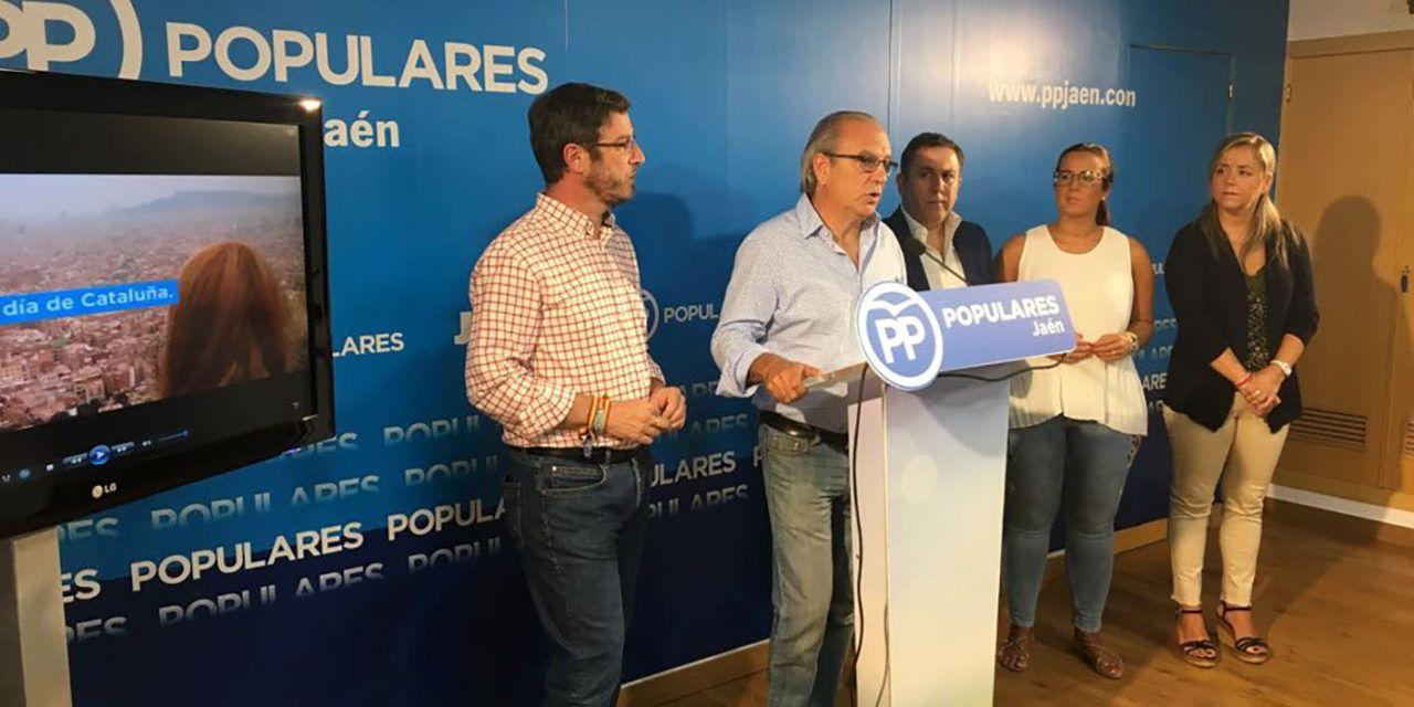 """El Partido Popular de Jaén y Cataluña reivindican """"una España unida y democrática"""""""
