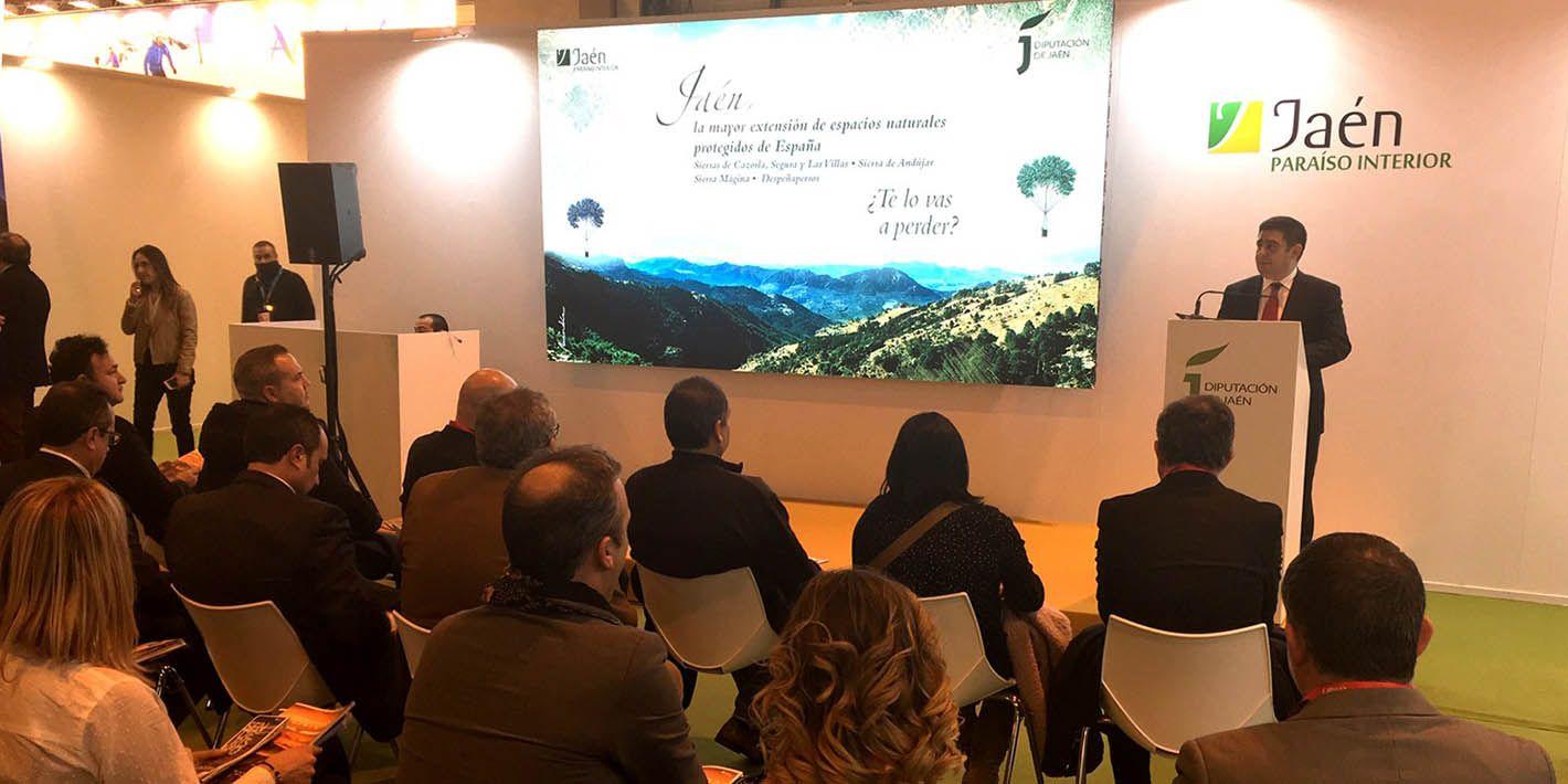 FITUR | La oferta de Jaén como destino de naturaleza, turismo y aventura estrena en Fitur nuevos materiales de promoción