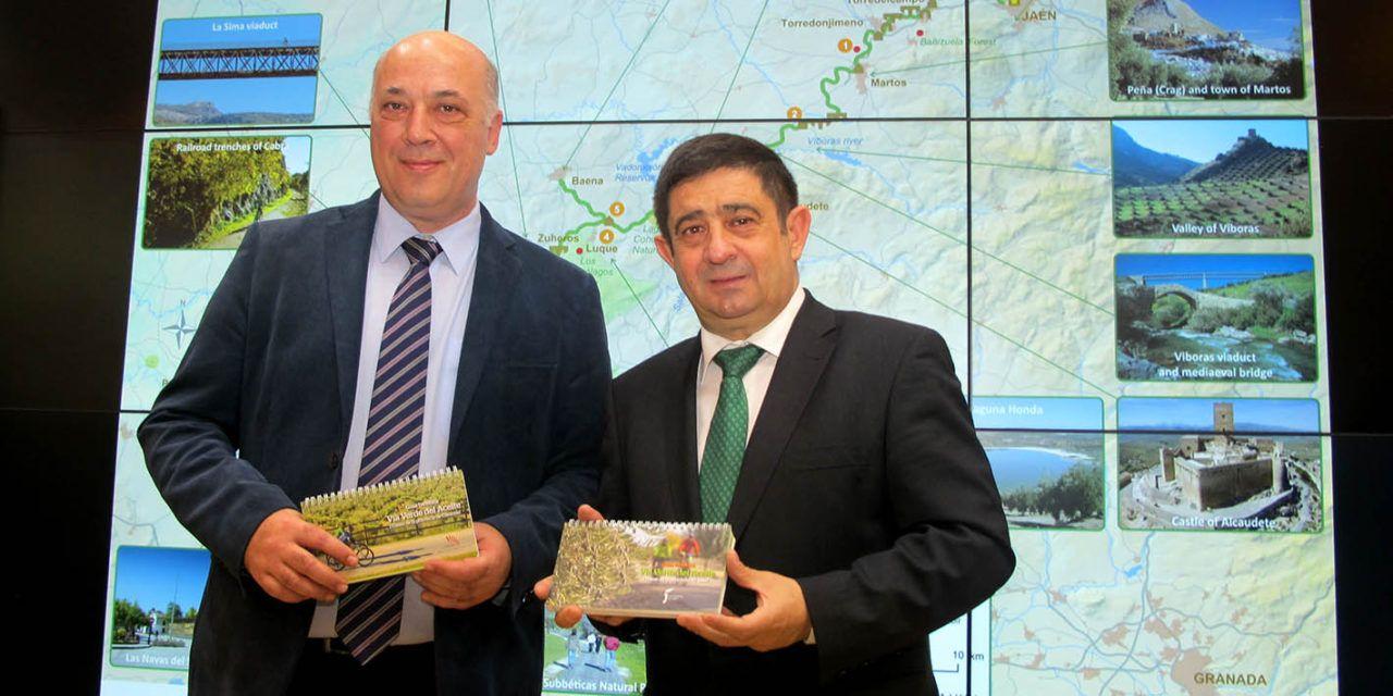 FITUR | La Vía Verde del Aceite se promociona en FITUR como un reclamo turístico y deportivo