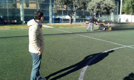 Jaén ultima las intervenciones en los campos elementales de fútbol