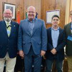 El alcalde recibe a la nueva junta directiva del Club Jaén Rugby