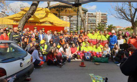 Los Bomberos de Jaén realizan un simulacro de accidente de tráfico