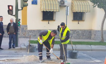 Campaña de bacheo en las calles afectadas de Jaén