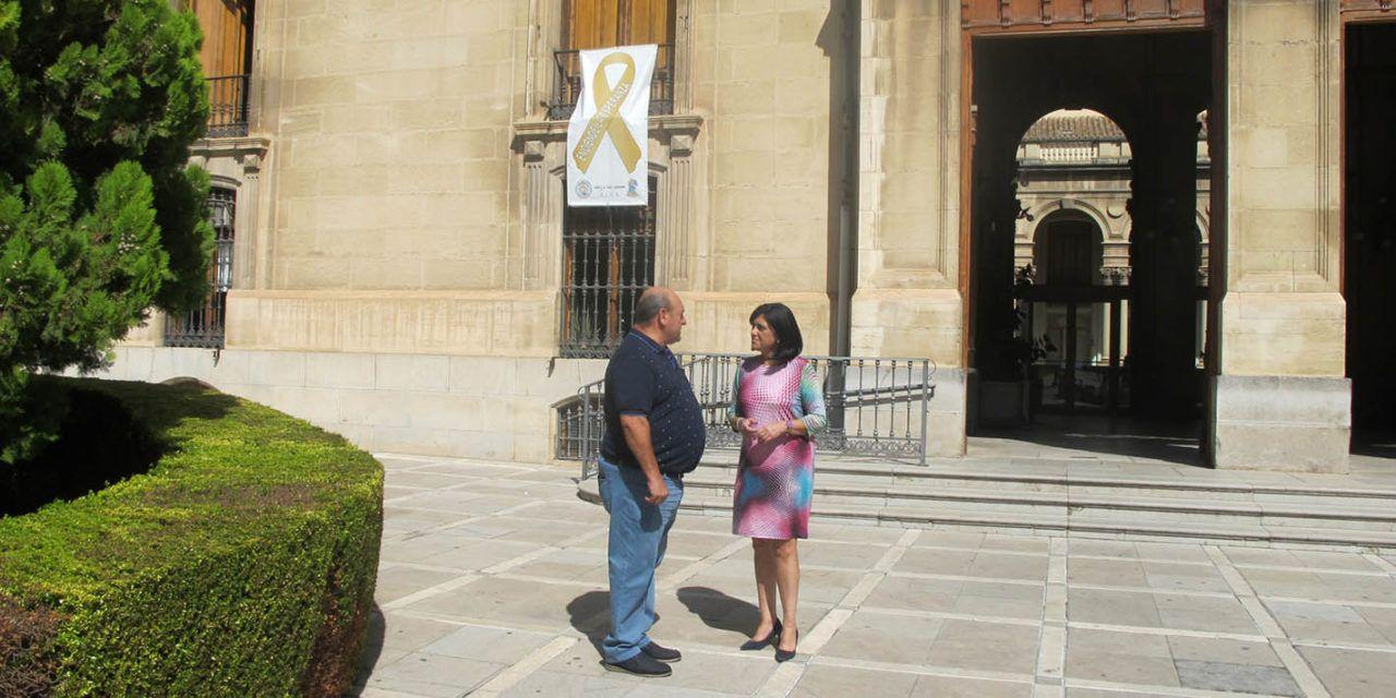 Diputación se suma a la campaña internacional sobre el cáncer infantil impulsada en Jaén por la Asociación Ales