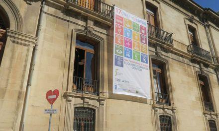 Diputación visibiliza en el Palacio Provincial su compromiso con los Objetivos de Desarrollo Sostenible