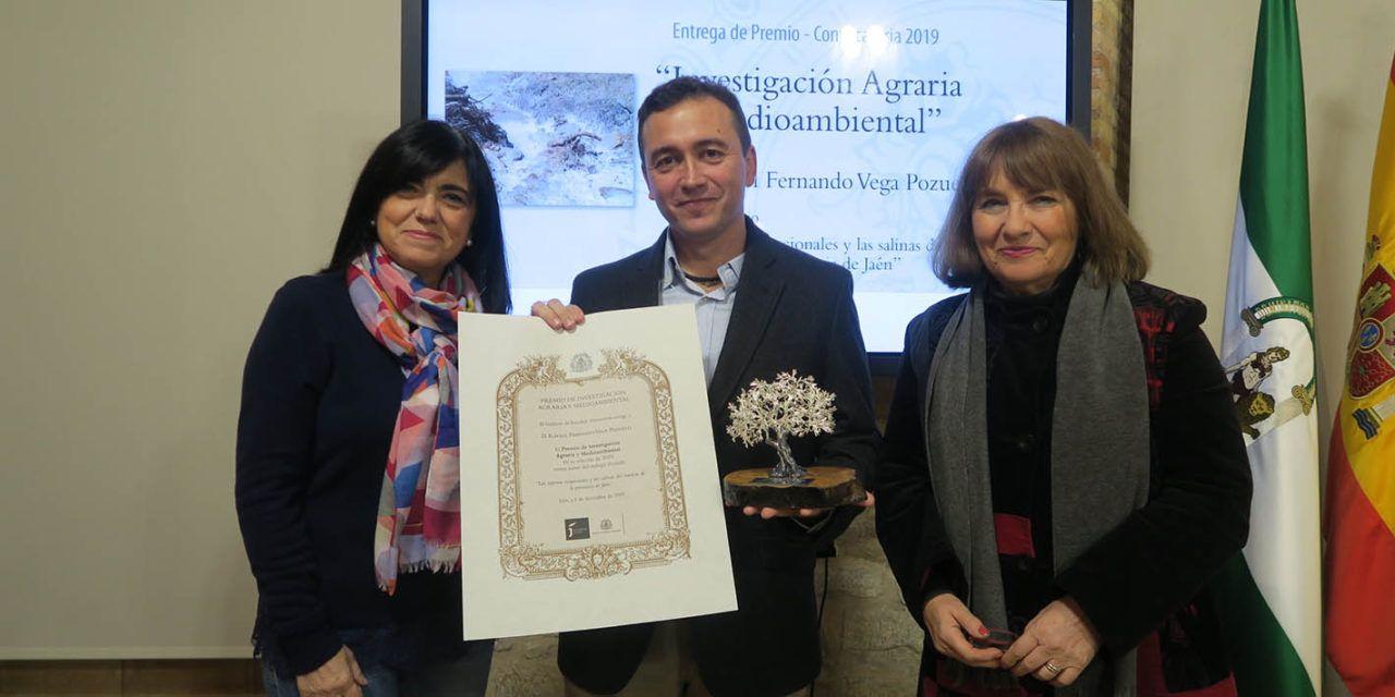 Un trabajo sobre las lagunas y las salinas jiennenses, de Rafael Vega, gana el Premio de Investigación Agraria del IEG