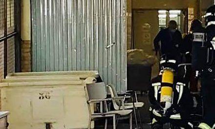 SUCESOS | Los bomberos intervienen por un conato de incendio en la lavandería del Hospital Universitario