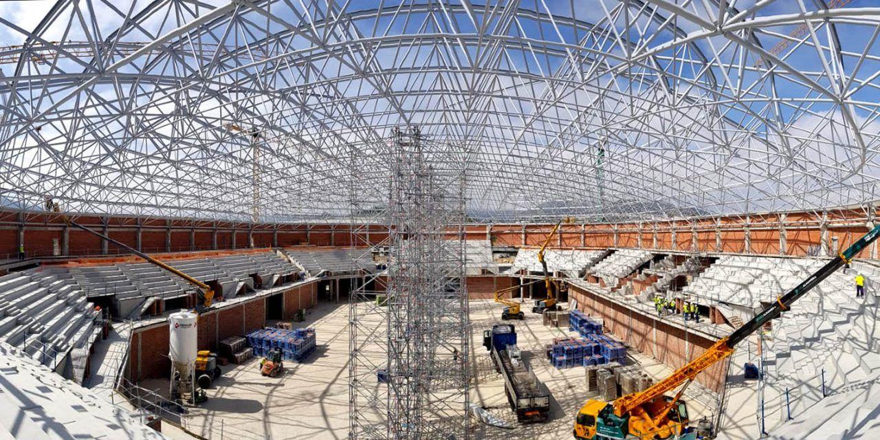 Las obras del palacio de deportes Olivo Arena se encuentran al 40% de su ejecución