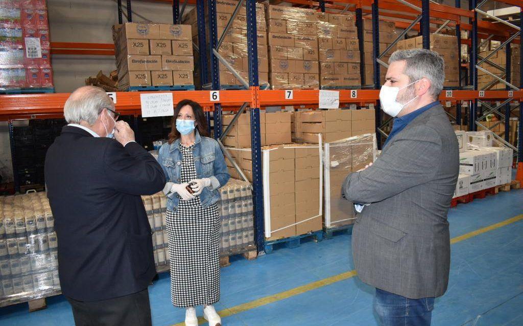 La Junta apoya al Banco de Alimentos con un millón de euros frente a la crisis del Covid-19