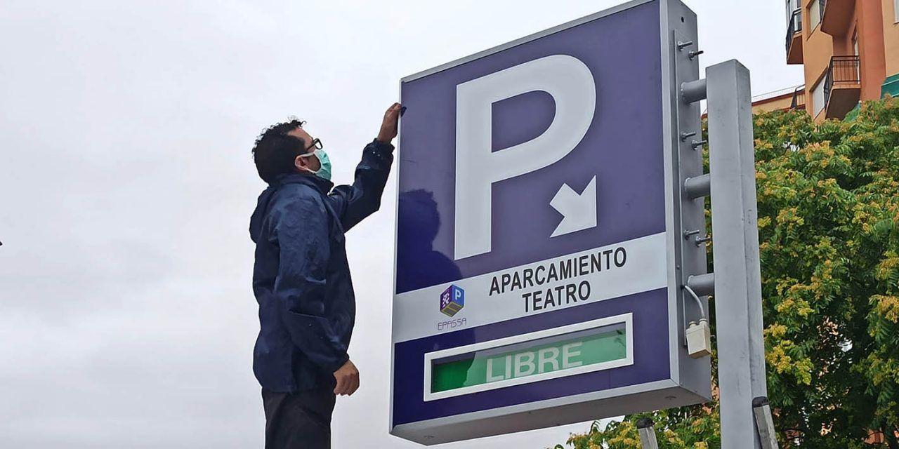 El Ayuntamiento abre de nuevo a la rotación mañana y tarde del aparcamiento del Teatro Infanta Leonor