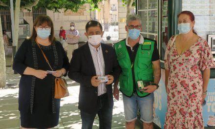 El presidente de la Diputación destaca la labor social de la ONCE en el regreso de los vendedores a las calles