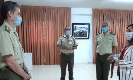 La subdelegada del Gobierno agradece la labor impagable de las Fuerzas Armadas para hacer frente a la emergencia de la Covid19