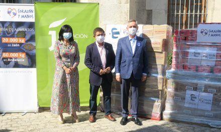 Diputación recibe 20 toneladas de alimentos donados por los 1.800 empleados de Clece en Jaén