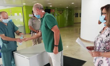 El Hospital de Jaén refuerza los controles de acceso para la protección frente al Covid-19