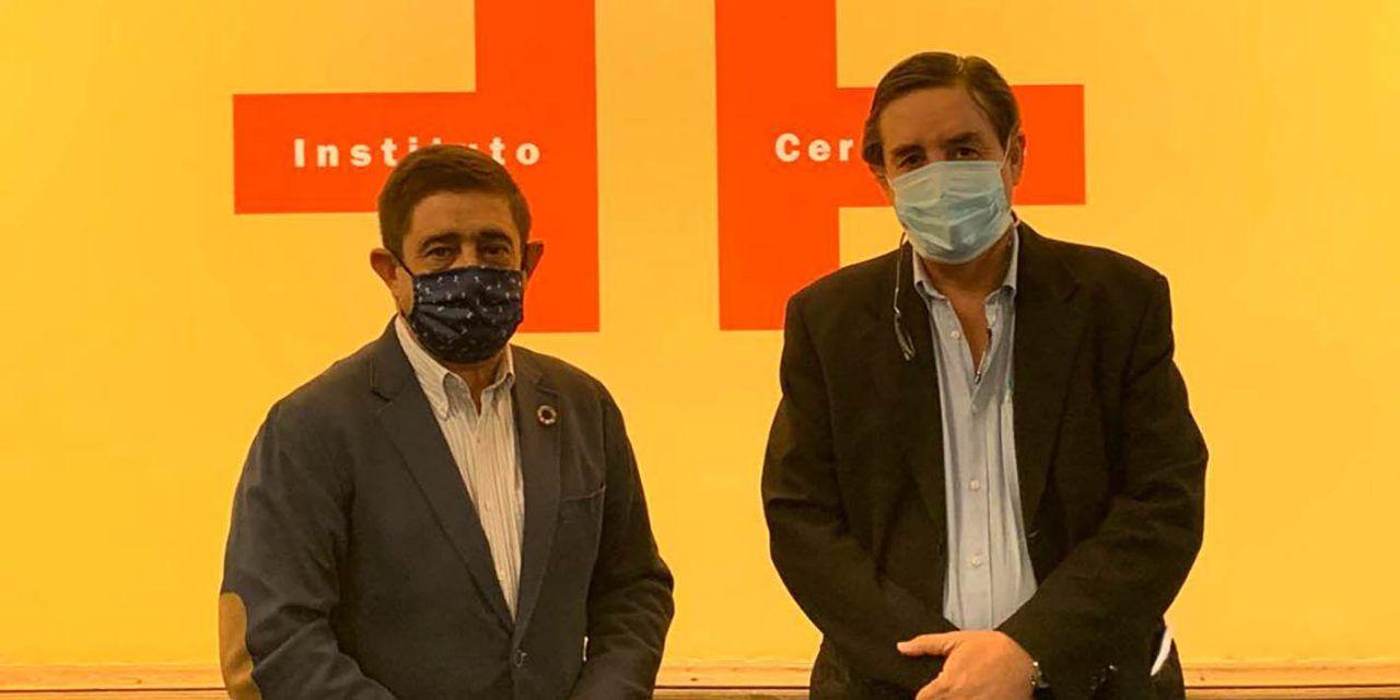 El presidente de la Diputación aborda con el director del Instituto Cervantes proyectos de colaboración conjunta