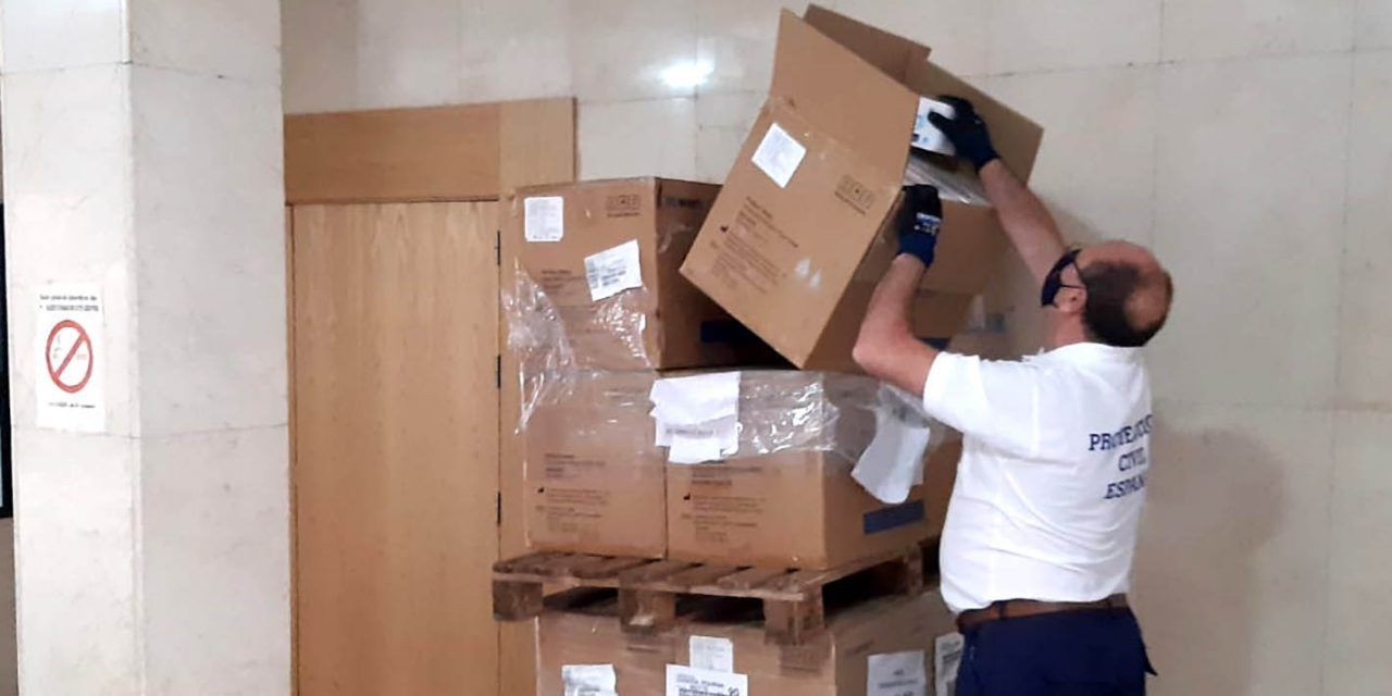 Martos recibirá parte del tercer envío de mascarillas del Gobierno Central a la provincia