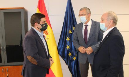 Los presidentes de las diputaciones de Jaén y Huesca se reúnen con el secretario general para el Reto Demográfico