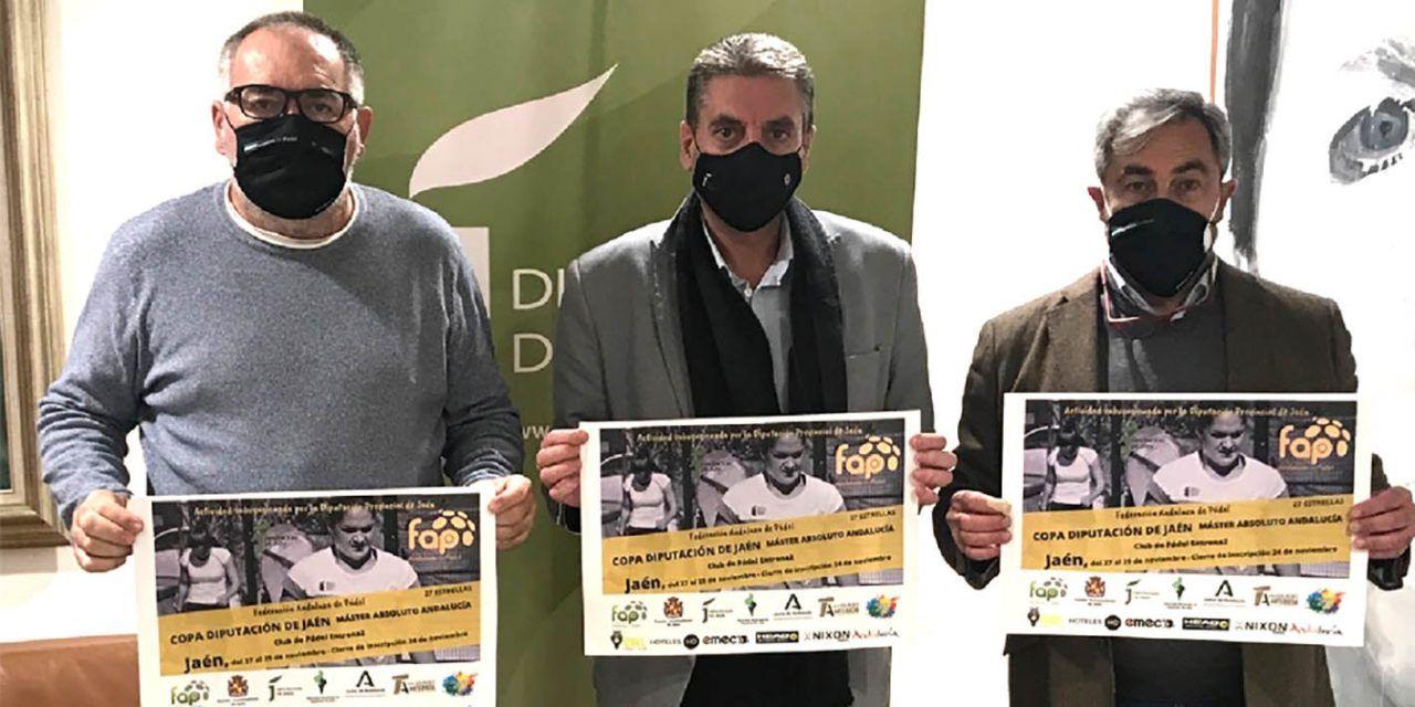 La Copa Diputación de Pádel reúne este fin de semana en Jaén a las 24 mejores parejas andaluzas