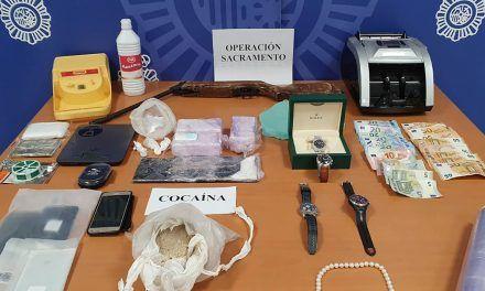 La Policía Nacional detiene a cuatro personas por tráfico ilícito de drogas en Jaén y Toledo