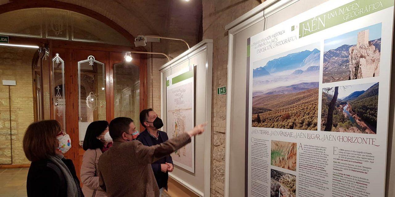 La Diputación acoge una muestra de cartografía histórica que refleja la evolución territorial de la provincia de Jaén