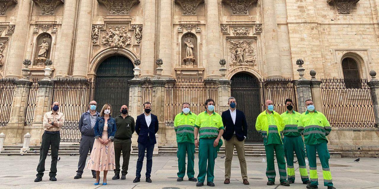 Jaén optimiza y dignifica el Centro Especial de Empleo con la incorporación a labores de Jardinería de 8 nuevos trabajadores, 6 de ellos personas con discapacidad