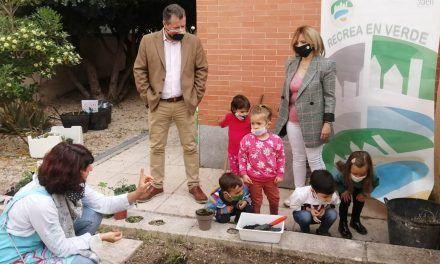 Diputación impulsa a través del programa Recrea en Verde un huerto escolar en el colegio María Zambrano de Jaén