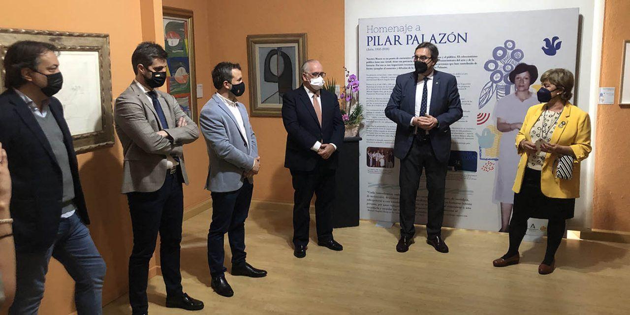 El Rector de la UJA destaca la labor de Pilar Palazón por acercar a la población el conocimiento de la obra del artista Manuel Ángeles Ortiz