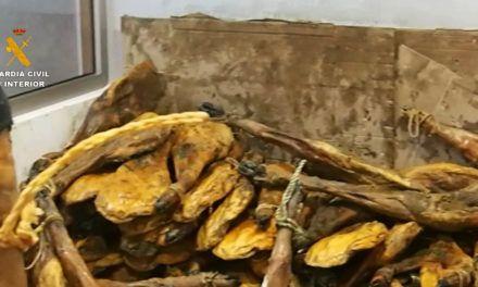 SUCESOS | La Guardia Civil investiga la presunta comercialización fraudulenta de jamones desde La Carolina