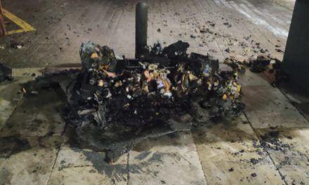 SUCESOS | Arde un contenedor en las inmediaciones del Teatro Infanta Leonor