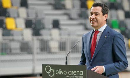 Moreno ve en el 'Olivo Arena', la infraestructura deportiva pública más importante de la historia de Jaén, un ejemplo de colaboración entre instituciones