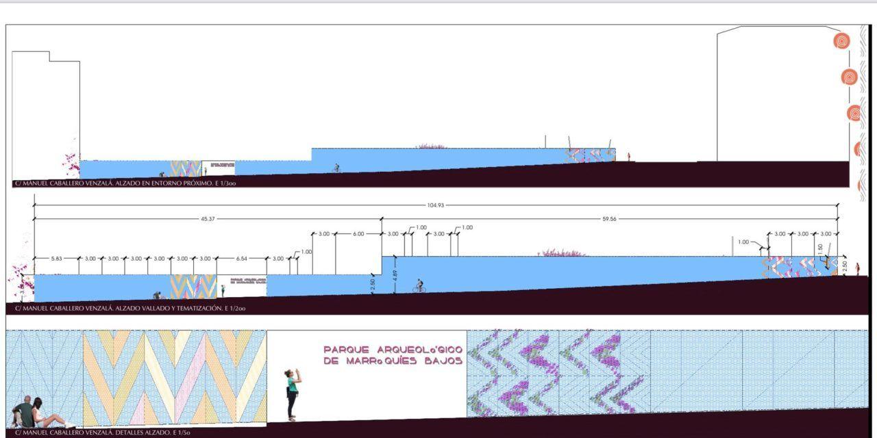 Sale a licitación las obras de ejecución del vallado artístico perimetral del futuro Parque Arqueológico de Marroquíes Bajos